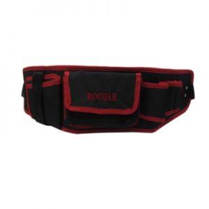 کیف کمری بوجار قرمز و مشکی